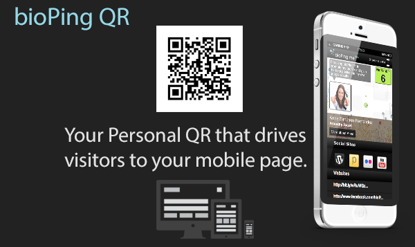 A Personal QR that drives visitors to your mobile page.