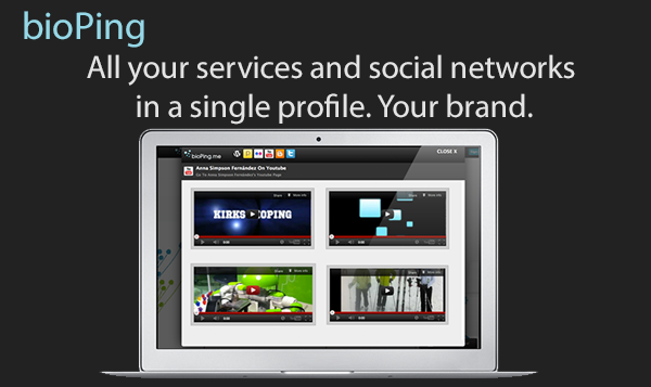 Your unified online identity, all your services and social networks in a single profile.